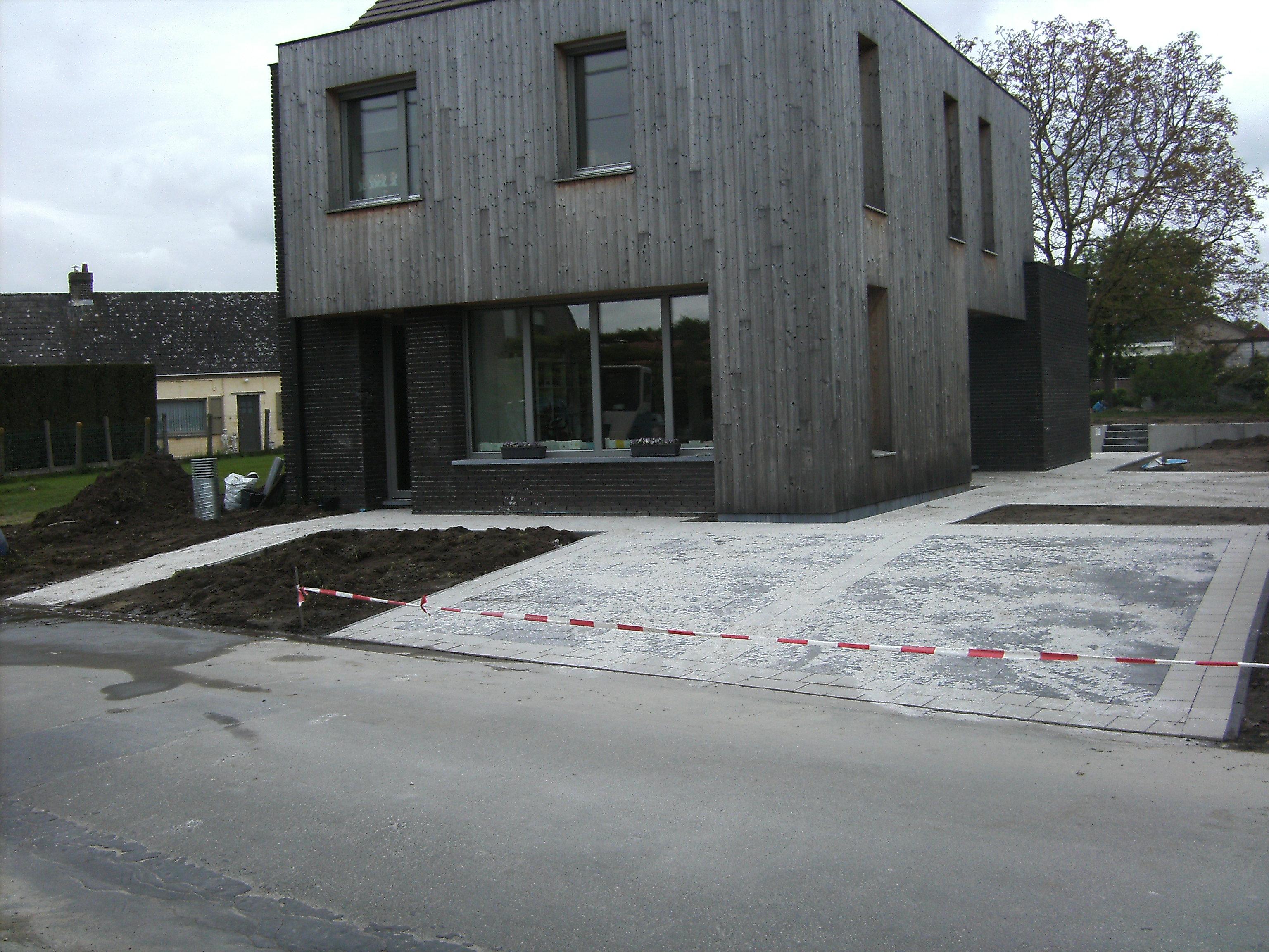 betonklinkers wit-antraciet bezand