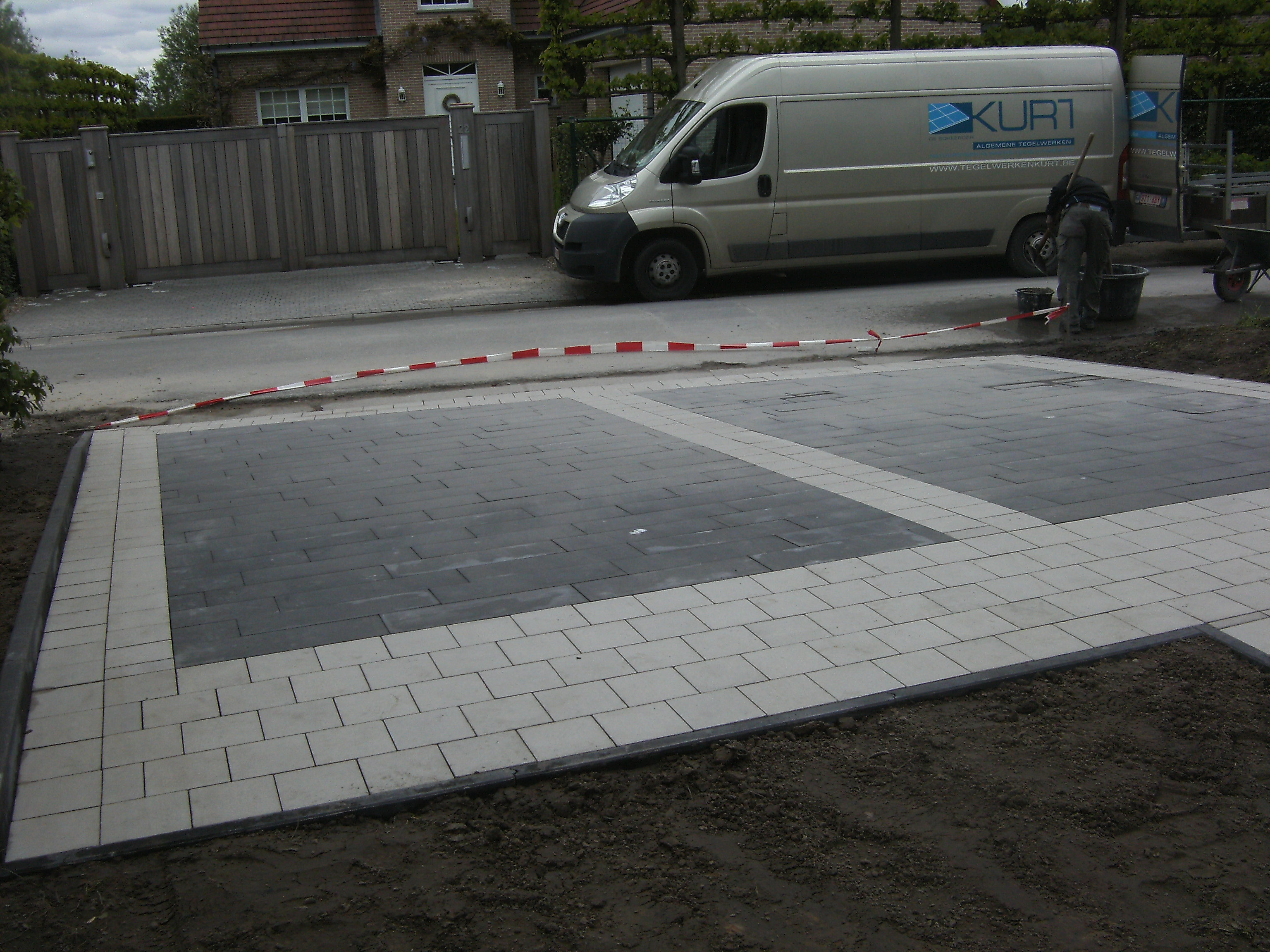 betonklinkers wit-antraciet onbezand