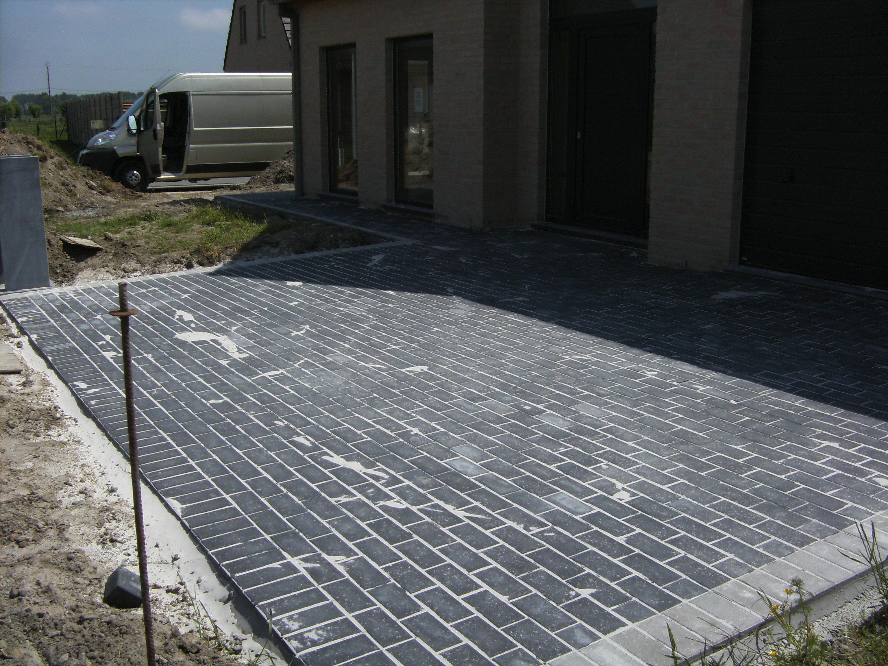 oprit en padd betonklinkers 22x11