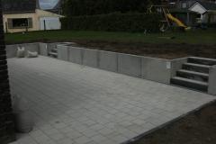 terras betonklinkers keerwanden